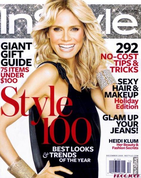 Heidi Klum снялась в InStyle Magazine (8 фото)