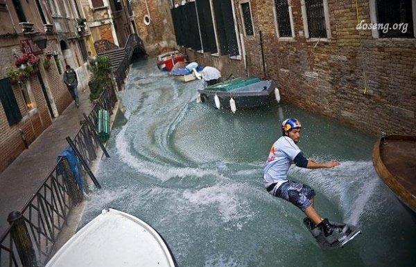 Турнир по wakeboarding в Венеции