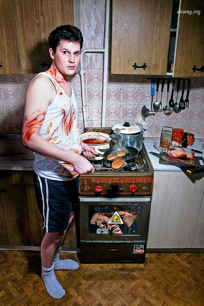 Мужчина на кухне приколы в картинках с надписями