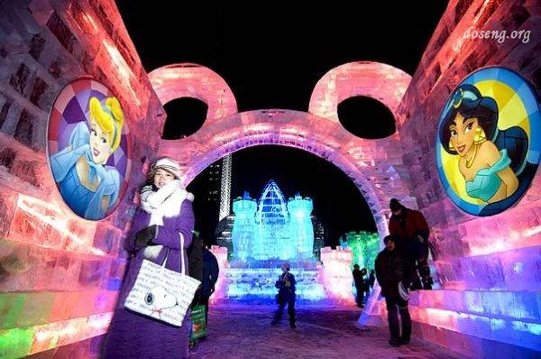 25-й Фестиваль скульптур из снега и льда в Харбине (10 фотографий)