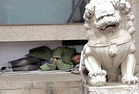 Нищего китайца накормили до смерти