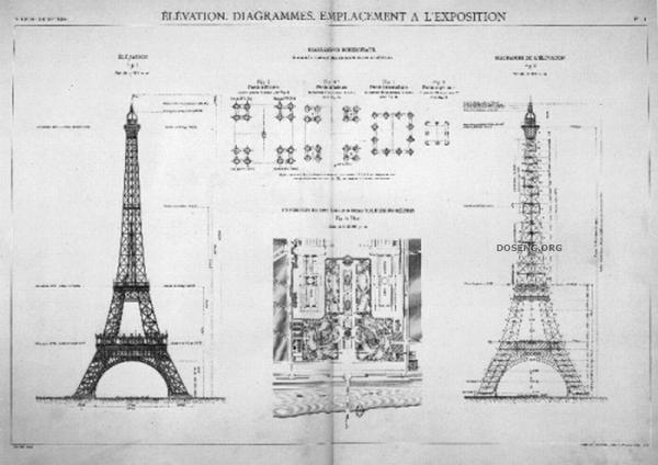 Познавательно, строительство Эйфелевой башни (18 фото)
