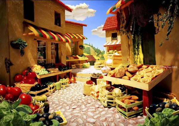 Пейзажи из еды (7 фото)