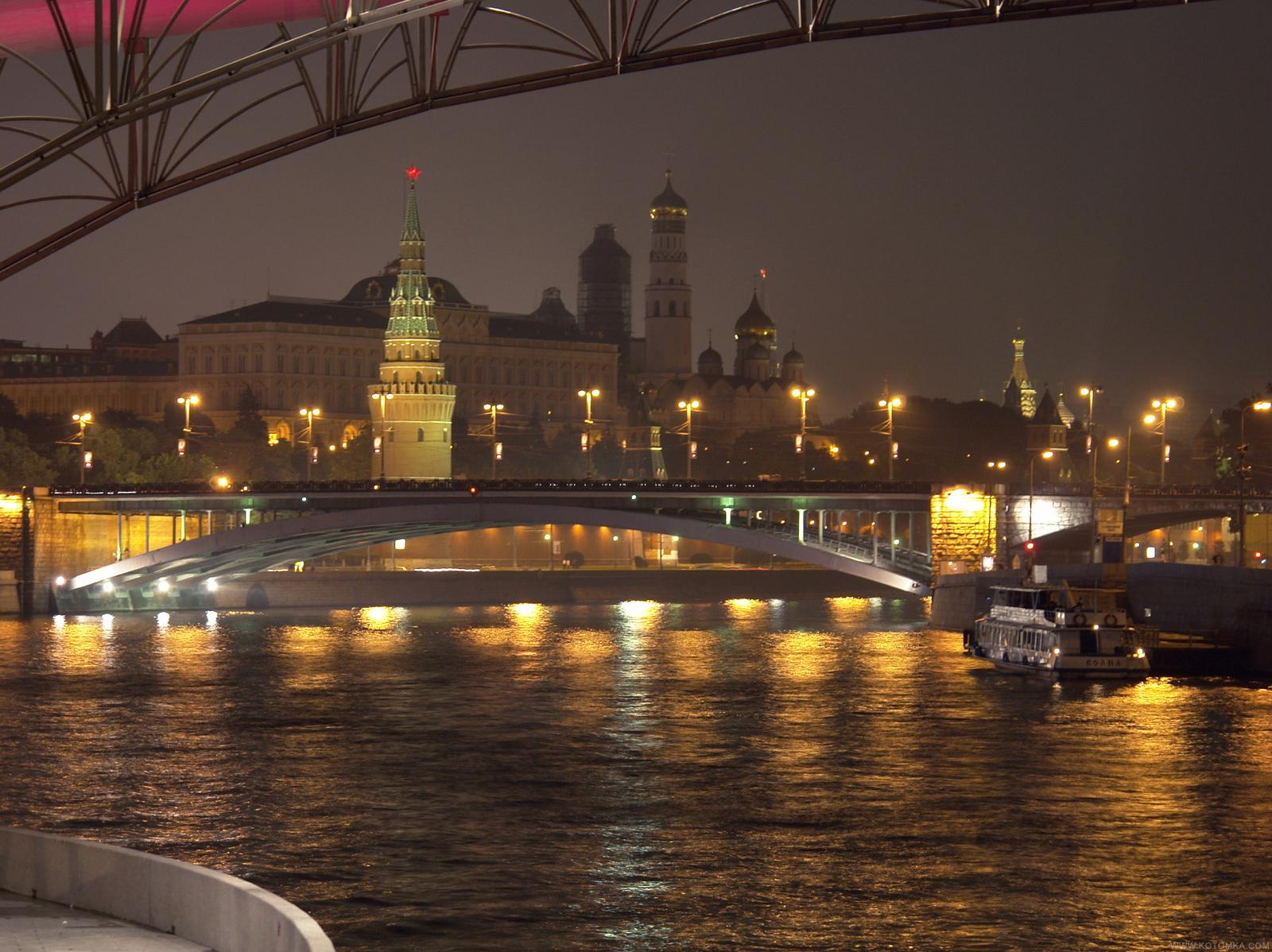 Скачать фото - Ночной Кремль Ночная Москва. Серия Реки и мосты