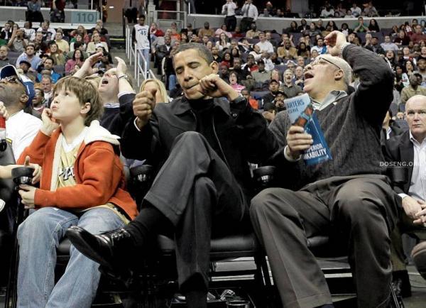 Президент на баскетболе (12 фото)