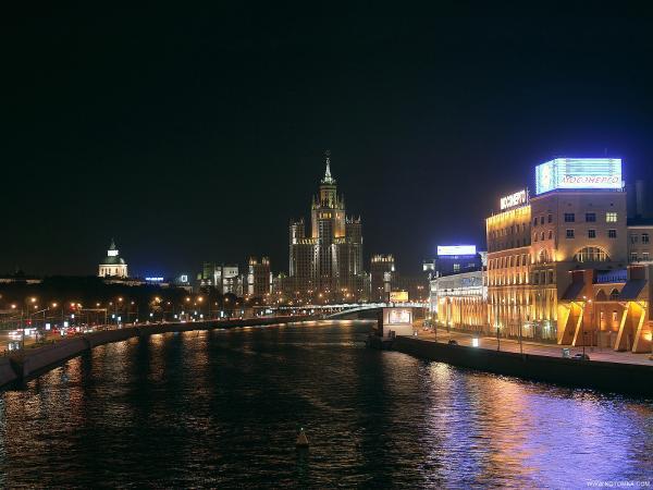 Москва ночью 40 фото
