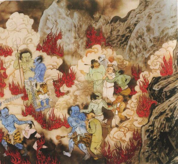 Буддийский ад. Жесть! (46 картинок)