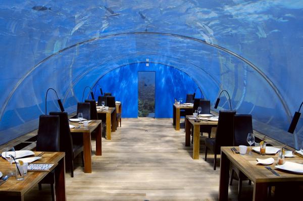 Подводный ресторан - Ithaa Undersea Restaurant (29 фото)