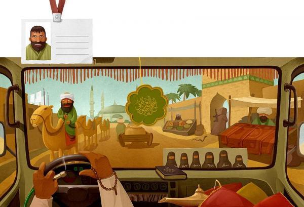 Замечательные иллюстрации дальнобойщиков разных стран (12 рисунков)