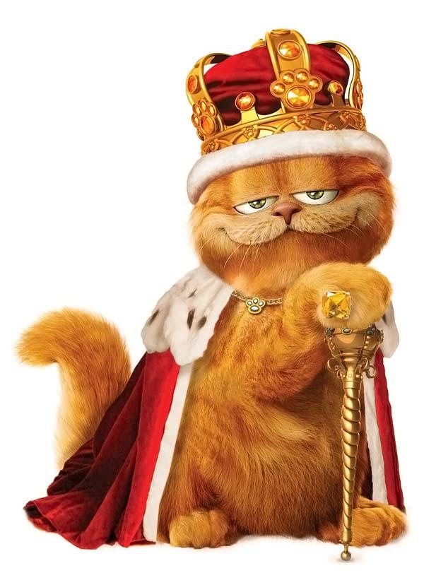 Картинка с гарфилдом царь просто царь, животных смешных