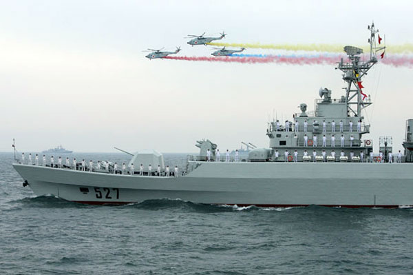 ВМС Народно-освободительной армии Китая 60 лет (14 фото)