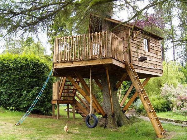 Фото как сделать дом на дереве