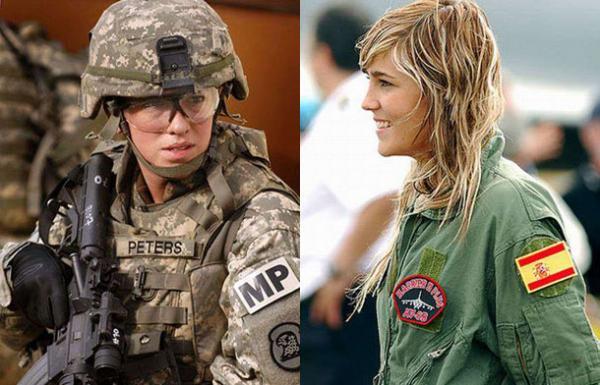 Девушки в военной форме (32 фото)
