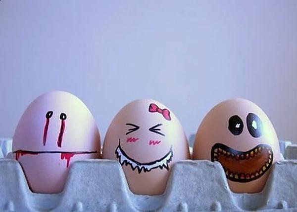 Смешные яйца (10 Фото)