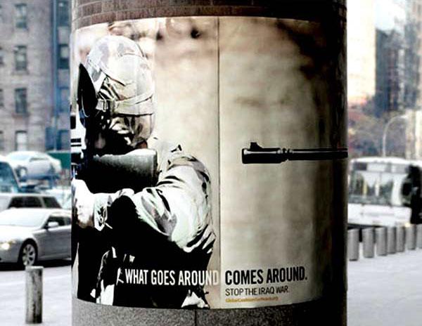 Серия плакатов за прекращение войны в Ираке (7 фото)