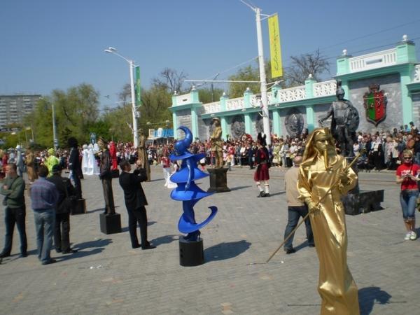Открытый чемпионат живых статуй в Евпатории (123 фото)