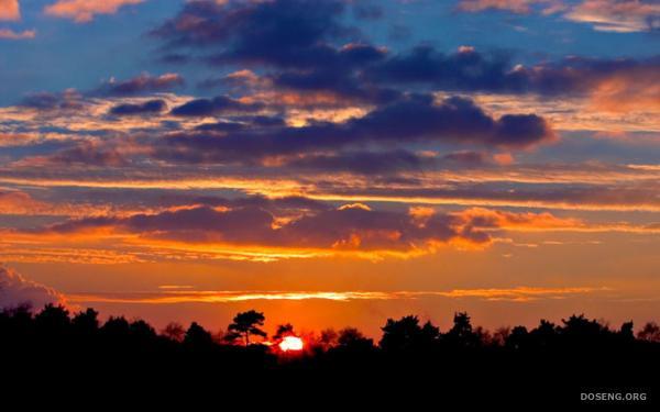 Закат солнца - неописуемая красота! (16 фотографий)