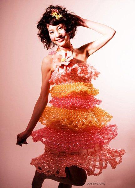Оригинальные платья из шариков (11 фото)