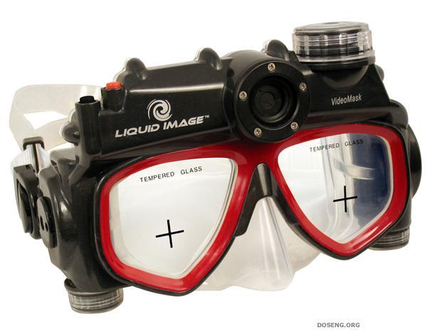 Маска для подводного плавания с функцией фото и видеосъемки