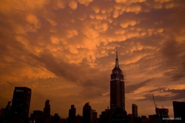 Вот такие облака над Нью-Йорком (17 фото)
