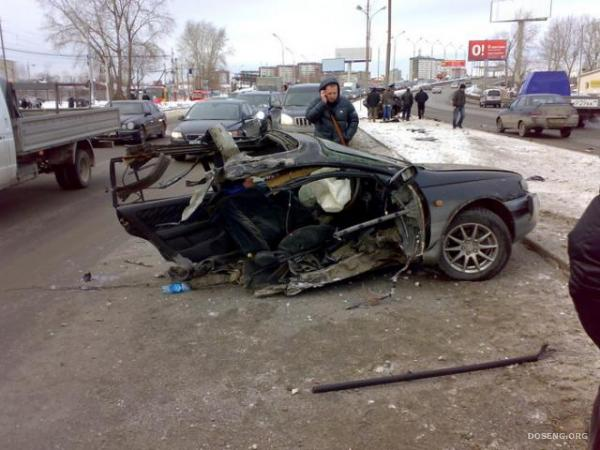 Неадекватный водитель (4 фото)