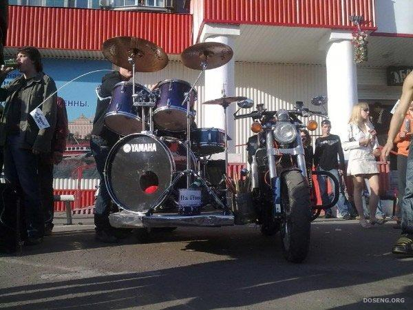 Барабан и мотоцикл в одном (9 фото)