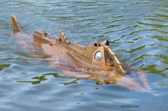 Миниатюрная подводная лодка Nautilus на радиоуправлении (6 фото)
