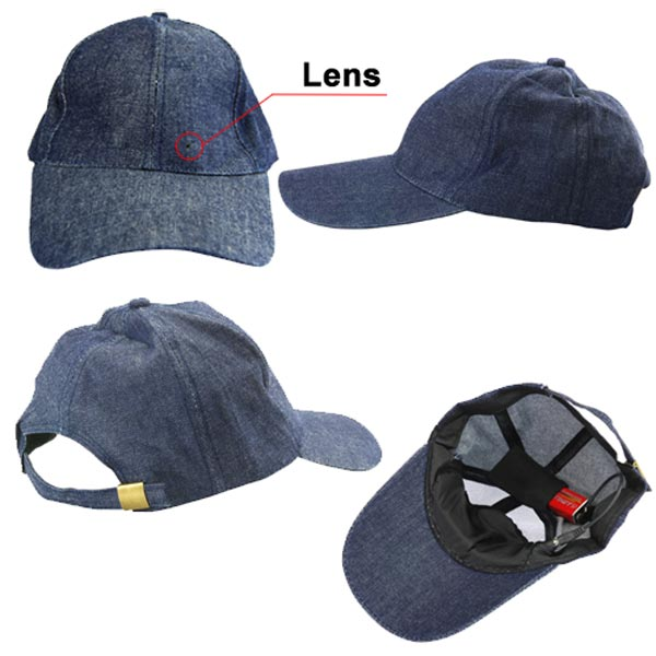 Бейсболка для шпионов Spy Camera Baseball Cap