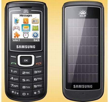 Samsung E1107 Crest Solar - телефон с солнечной батареей