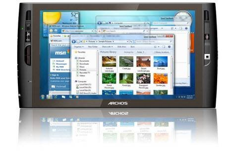 Tablet PC Archos 9, работающий под Windows 7