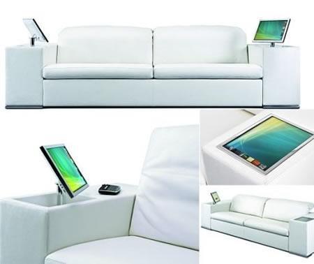 Высокотехнологичный диван Athena Sofa