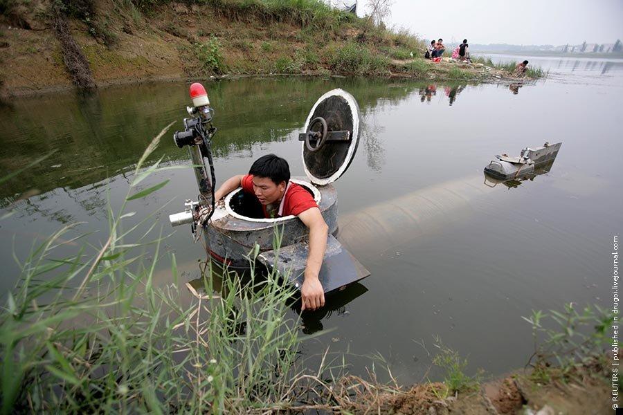 Китайская самодельная подводная