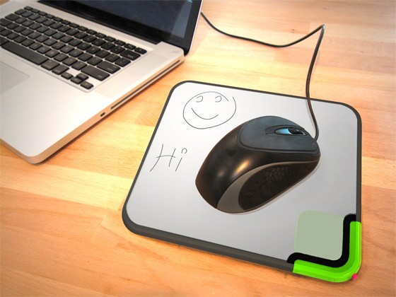 Scratch-n-Scroll - коврик для мышки + записная книжка