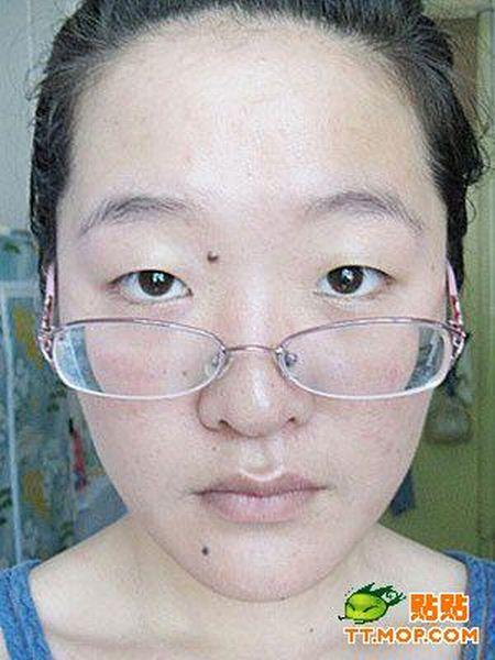 Китайская девушка до и после макияжа (12 фото)