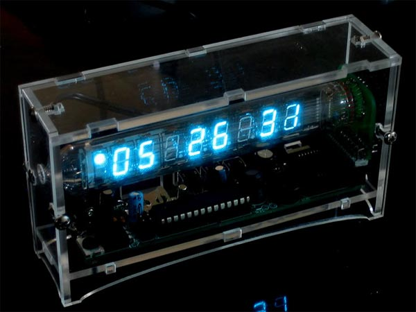 ICE Tube Clock - часы для гика (2 фото)