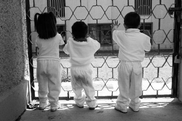 дети за решеткой фото