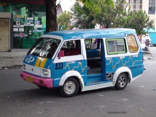 Маршрутные такси в Индонезии (17 фото)
