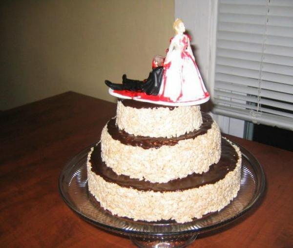 Тортики на тему развода (30 фото)