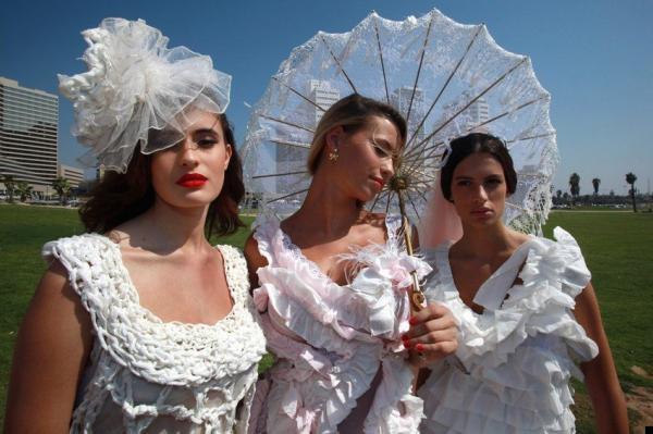 Свадебное платье из бумаги (9 фото)