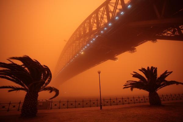 Песчаный шторм в Австралии (13 фото)