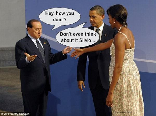 Мишель Обама и Сильвио Берлускони (9 фото)