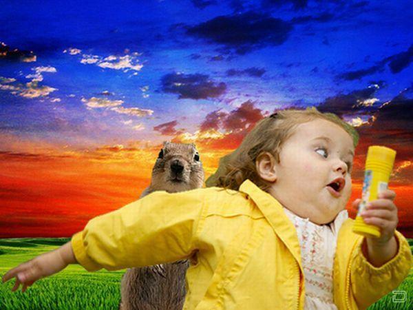 Картинка смешная девочка убегает, картинках