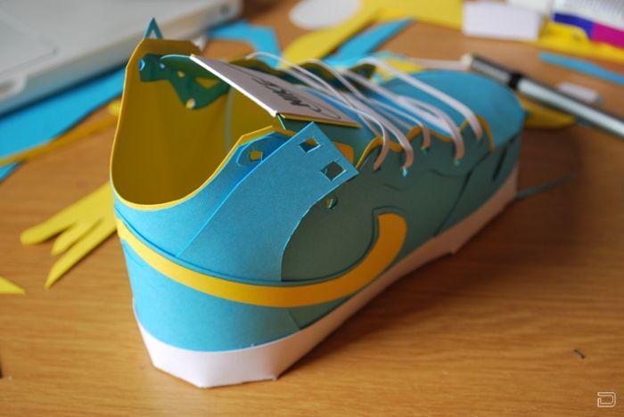Как сделать из бумаги ботинок