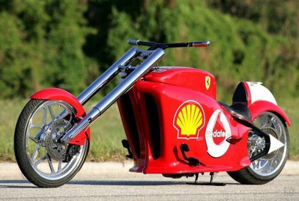 Мотоцикл Ferrari своими руками (14 фото)
