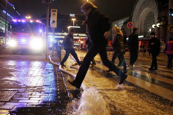 Потоп в Финском метро