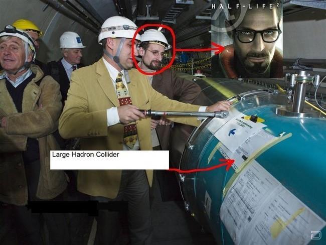 Гордон Фримен и Большой Адронный Коллайдер (23 фото)