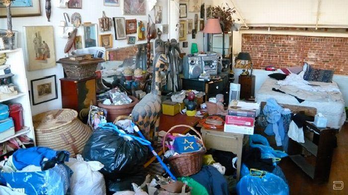 Очень грязные квартиры и дома США (28 фото)