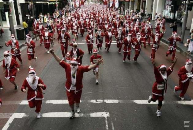 Забег Санта Клаусов в Сиднее