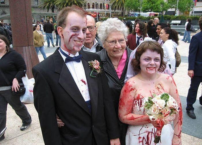Самые смешные свадебные пары фото
