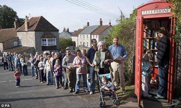 Самая маленькая библиотека в мире в английской деревеньке Somerset